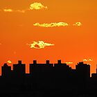 New York City Sunset Silhouette by Alberto  DeJesus