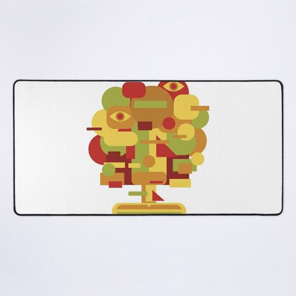 Tree Cubism Desk Mat