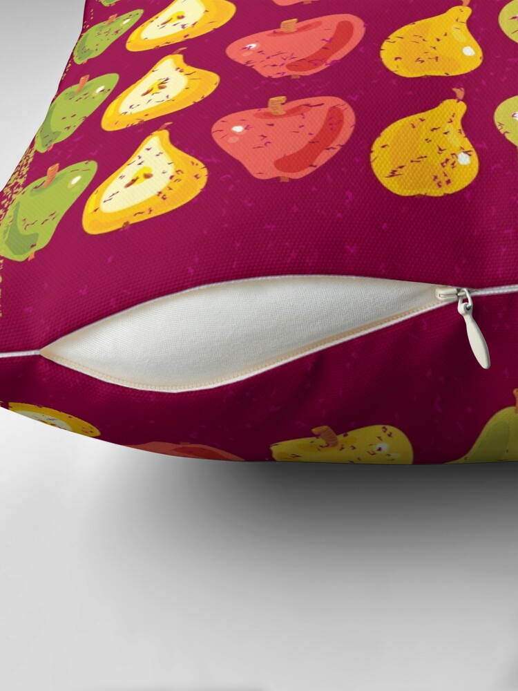Alternate view of Apples & Pears Throw Pillow