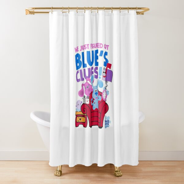 Womens Blues Clues You Group Shot Just Figured Out Blues Clues Shower Curtain