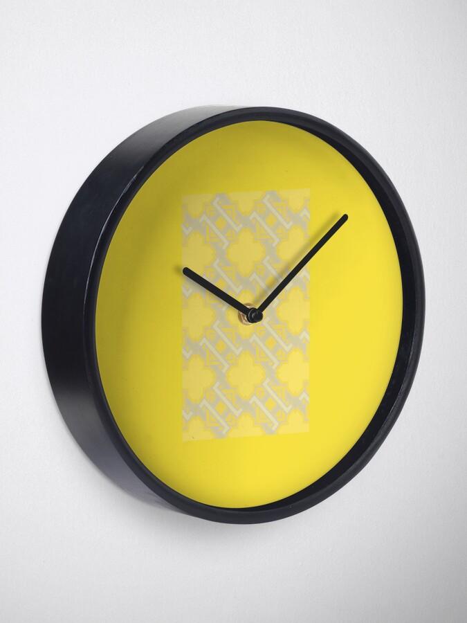 Alternate view of Yellow Geometric Pattern Clock