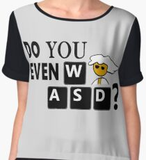Steam PC Master Race Geek Do You Even WASD? Women's Chiffon Top