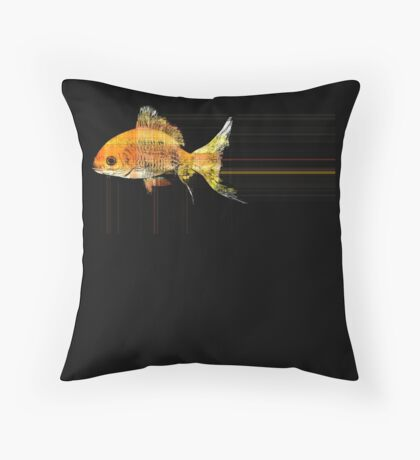 fast goldfish Throw Pillow