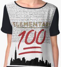 #Elementary100  Chiffon Top