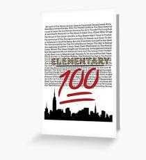 #Elementary100  Greeting Card