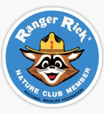Ranger Rick's Nature Club Vintage Member Badge Sticker