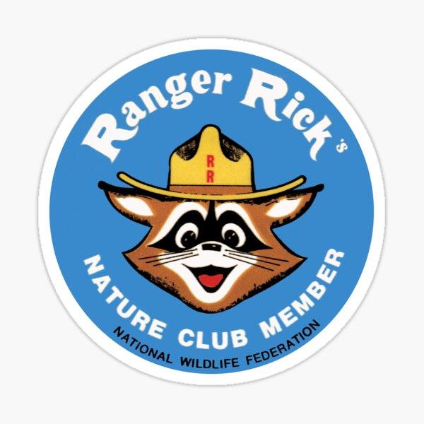 Ranger Rick's Nature Club Vintage Member Badge Sticker
