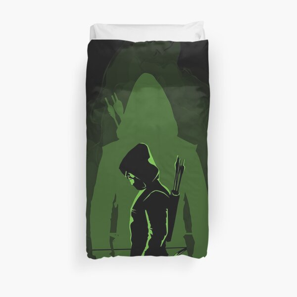 Green shadow Duvet Cover