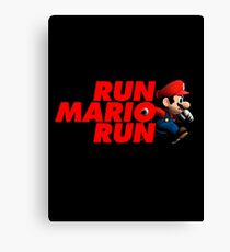 Super Mario - Run Mario Run - Clean Canvas Print