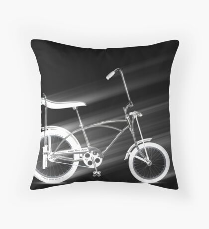 Black Bike Throw Pillow