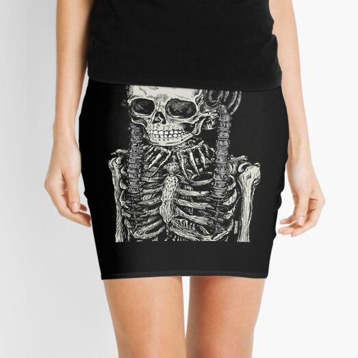 Goth Bones 192 Mini Skirt
