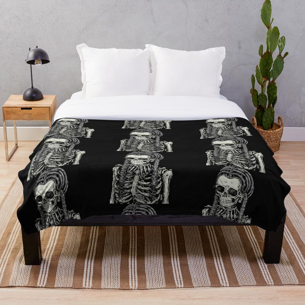 Goth Bones 192 Throw Blanket