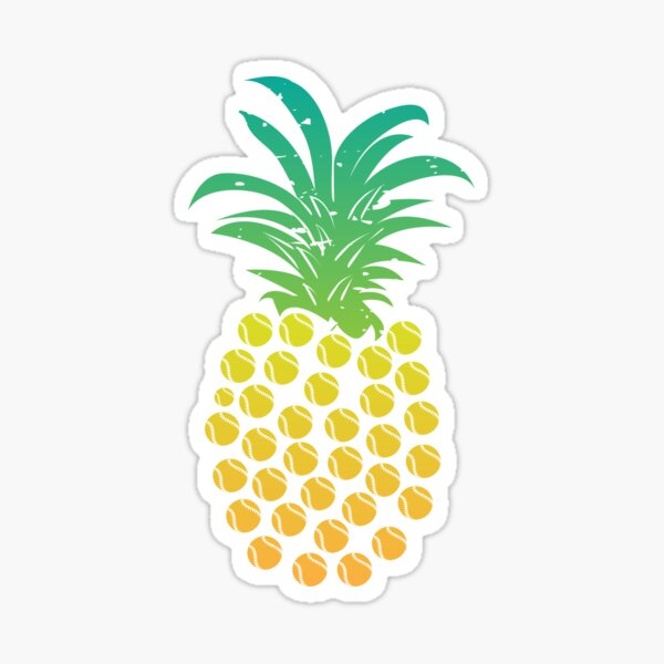 Pineapple Fruit  Athlete Sports Tropical Sweet Fruit Pineapples for Sports Players Sticker