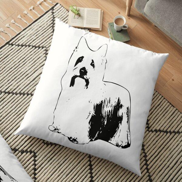 Australian Silky Terrier Abstract Floor Pillow