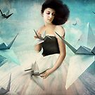 My first Origami Crane by Catrin Welz-Stein