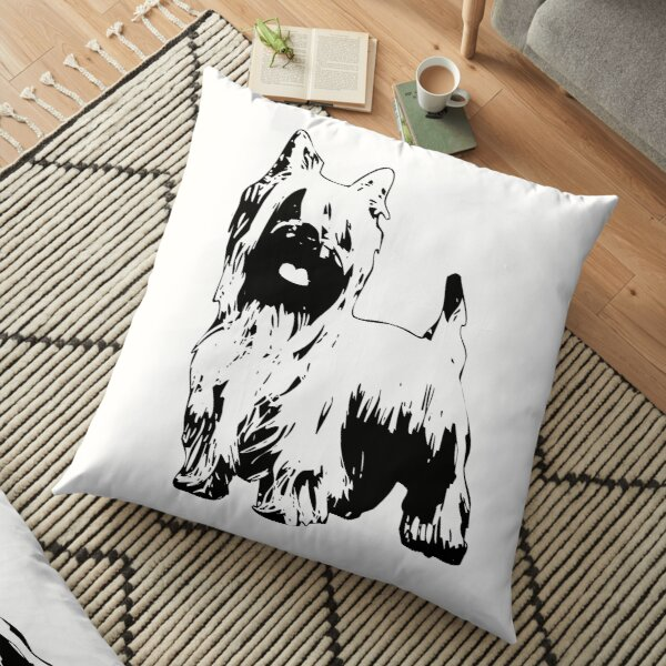 Silky Terrier - Australian Silky Terrier Abstract Floor Pillow
