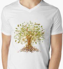 Colorful Modernist Tree 13 Men's V-Neck T-Shirt