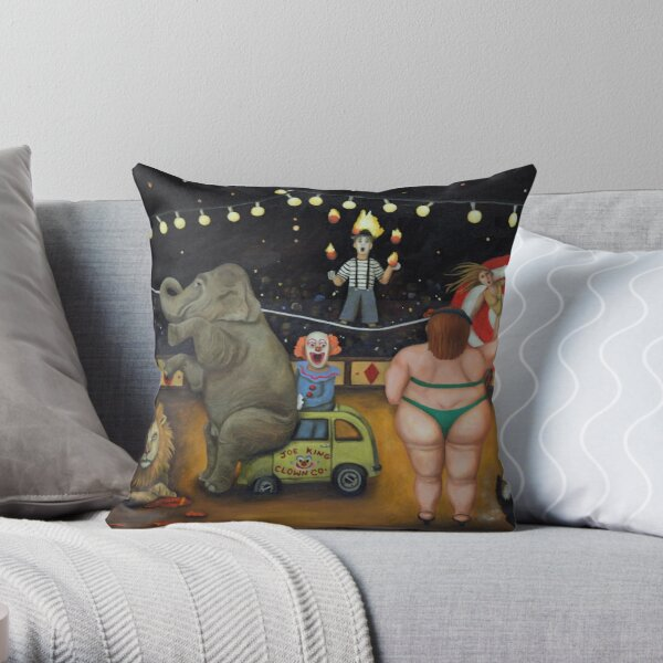 Nightmare Circus Throw Pillow