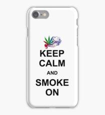 KEEP CALM AND SMOKE ON iPhone Case/Skin