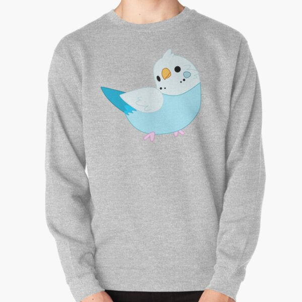 Blue Budgie (Parakeet) Pullover Sweatshirt