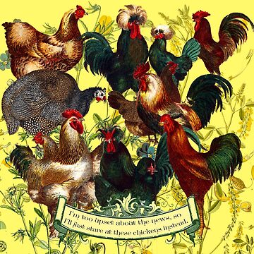 Gazing at Victorian Chickens 1 by DonnaCat