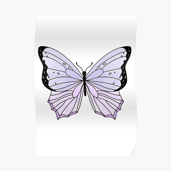 Cute purple butterfly Poster