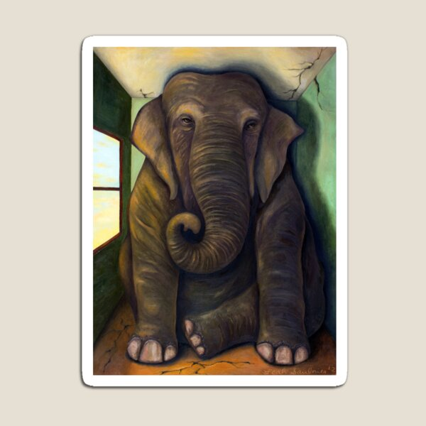Elephant In The Room Magnet