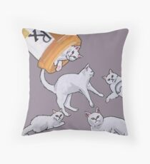 Addicted to Cats Throw Pillow