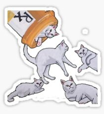 Addicted to Cats Sticker
