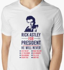 Rick Astley For President Men's V-Neck T-Shirt