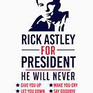 Rick Astley Für den Präsidenten von kjanedesigns