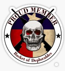 Proud Member Basket of Deplorables- Texas Sticker