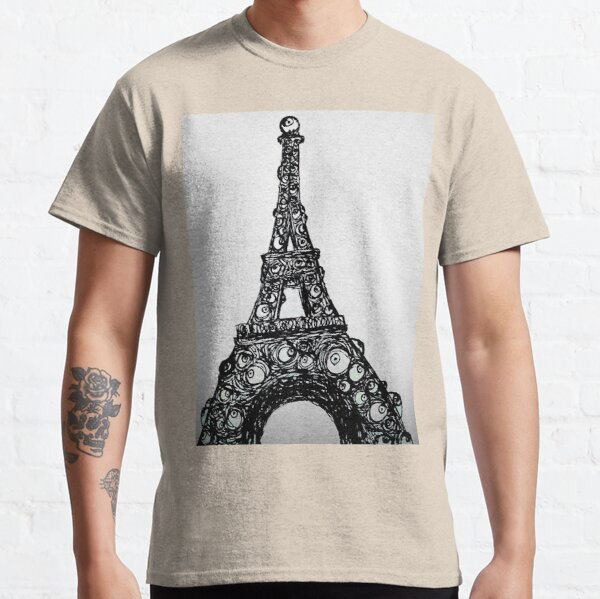 Eyeful Tower Black and White Classic T-Shirt