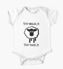 You Tank It - sheep (clean) One Piece - Short Sleeve