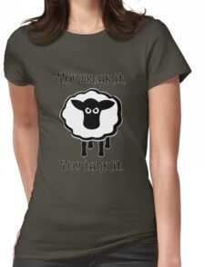 You Tank It - sheep (clean) Womens Fitted T-Shirt