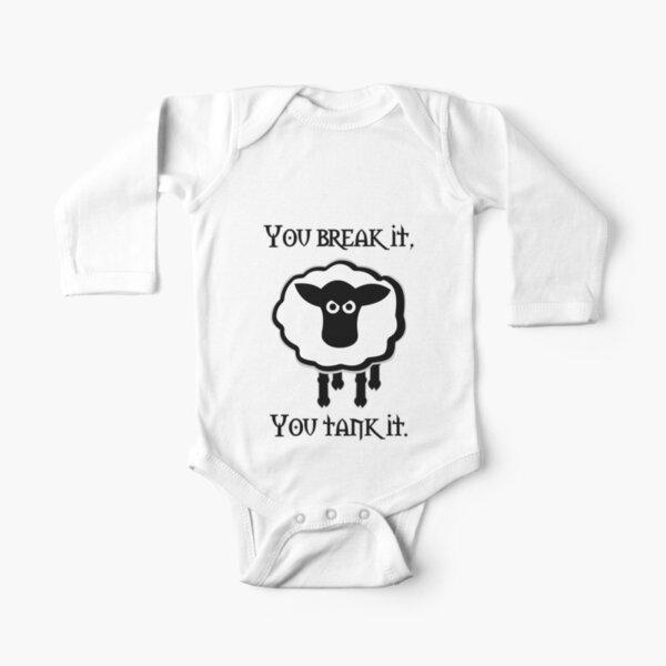 You Tank It - ovejas (limpias) Body de manga larga para bebé