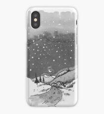 night scene snow iPhone Case