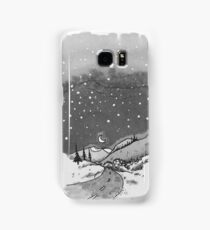 night scene snow Samsung Galaxy Case/Skin