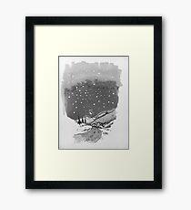night scene snow Framed Print