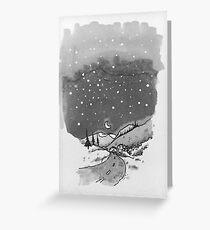 night scene snow Greeting Card