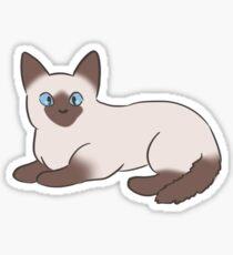 Chaton siamois Sticker