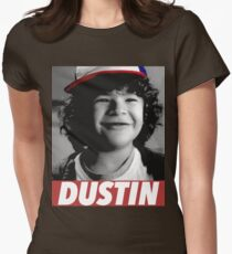 DUSTIN IS MY HERO Womens Fitted T-Shirt