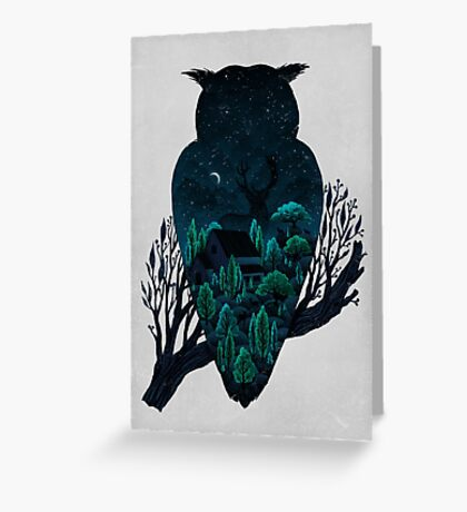 Owlscape Greeting Card