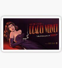 Deadly Velvet - Archer Sticker