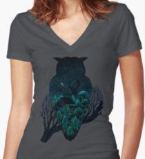 Owlscape Women's Fitted V-Neck T-Shirt