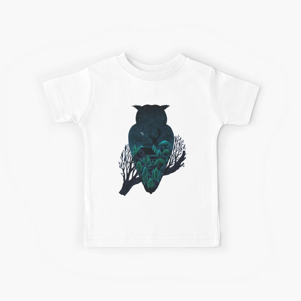 Eulenlandschaft Kinder T-Shirt