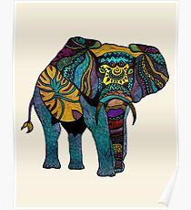 Elephant of Namibia Poster