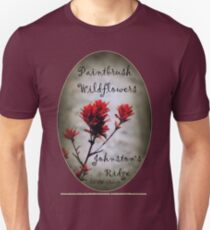 paintbrush wildflowers, Johnston's Ridge 2 oval Unisex T-Shirt