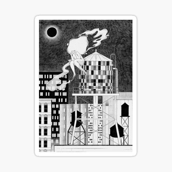 Night in NY Sticker