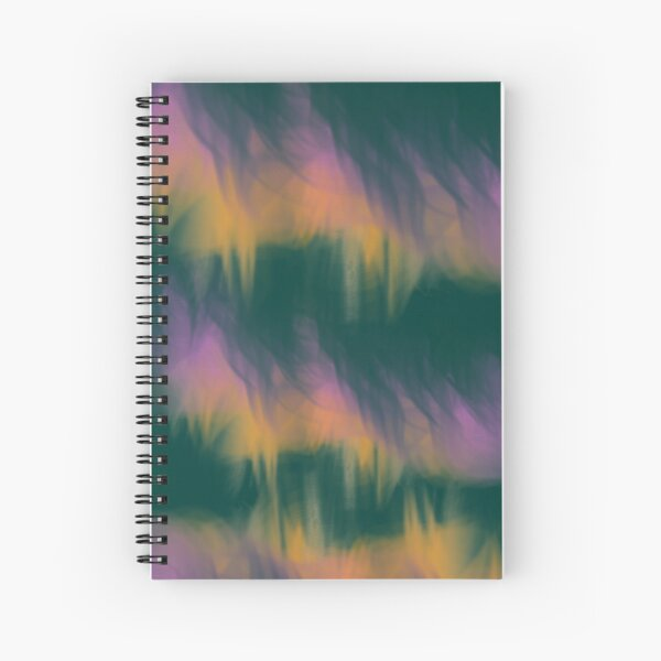 Fuzzy Green Monster Abstract Print Spiral Notebook